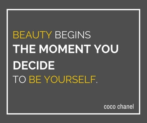 Beauty begins the moment you decide to be yourself. Guest blog post by Jeanette LeBlanc