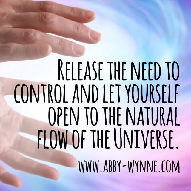 Healing is a release of control