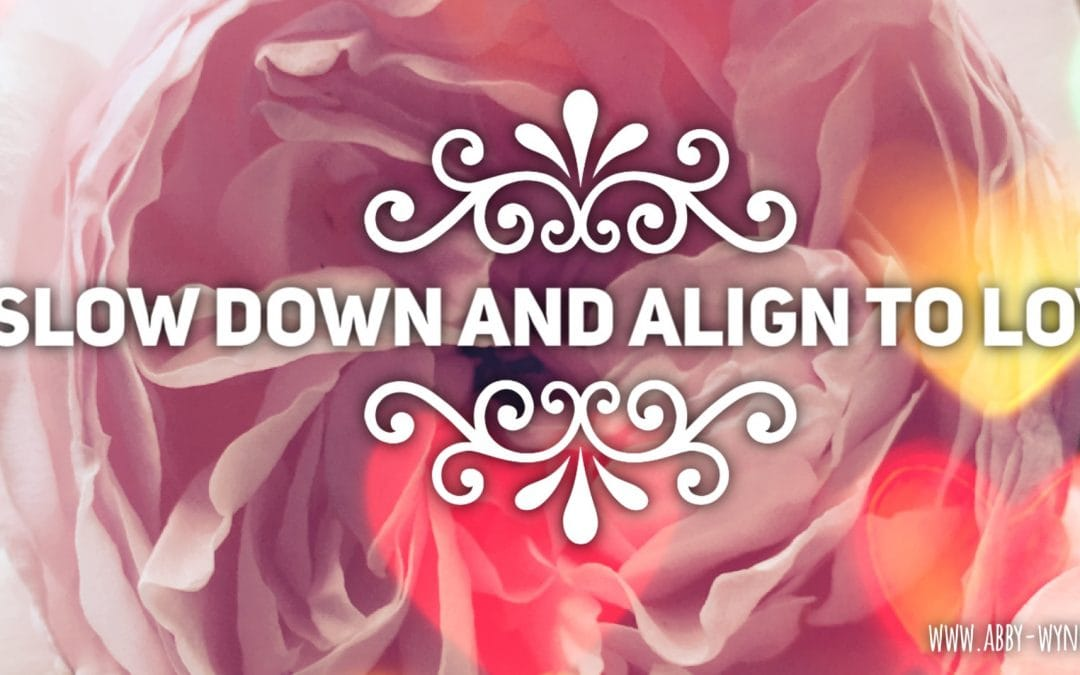 Slow down and align to love
